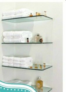 9 Prodigious Tips: Wooden Floating Shelves Bedroom floating shelf office.Floating Shelf Bar Apartment Therapy floating shelf with hooks home.Floating Shelf With Hooks Storage. Glass Corner Shelves, Shelves Over Toilet, Glass Shelves In Bathroom, Bathroom Wall, Bathroom Cabinets, Kitchen Cabinets, Bathroom Storage, Glass Bookshelves, White Bookshelves