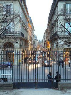 Rue de Rivoli from the Jardin des Tuileries #Paris, France