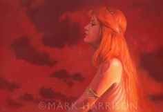 """""""Naomi Rouge"""", a painting about the colour red. Portrait of my regular model, Naomi Wood. Oil on linen 22"""" x 16""""."""