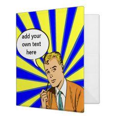 Discover Retro custom binders from Zazzle. Organize with school, work or recipe binders. Get organized today! Man Birthday, Birthday Ideas, Recipe Binders, Comic Styles, Custom Binders, Staying Organized, Ads, Organization, Comics