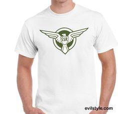 Captain America SSR T-shirt Cosplay Halloween Costume T-shirt - http://evilstyle.com/captain-america-ssr-t-shirt-cosplay-halloween-costume-t-shirt