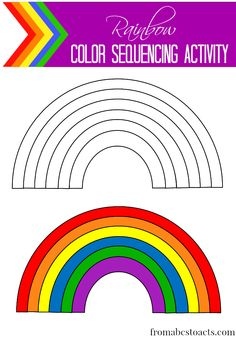rainbow colouring page labelled pre k rainbow theme crafts worksheets pinterest. Black Bedroom Furniture Sets. Home Design Ideas