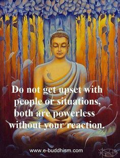 Once you accept that your reaction is the key to your peace life gets much simpler!