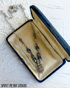 Vintage Rhinestone Baroque Pearl and Pyrite by simplymeart on Etsy, $50.00