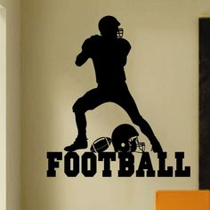 Vinyl Wall Lettering Sports Large Football Player Kids Room Quotes Decal