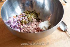 Slanke tonijnsalade Low Carb Recipes, Acai Bowl, A Food, Oatmeal, Favorite Recipes, Lunch, Breakfast, Om, Drink
