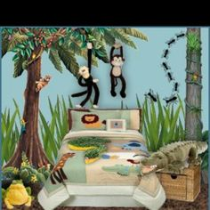 Amazing I Like The Tall Grass Decals And The Treeu0026 Thatu0026 All I Would Use In This  Pic For My Sons Jungle Room