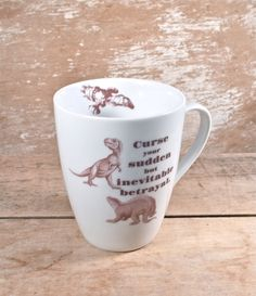 Firefly Serenity Quote Mug, Curse Your Sudden But Inevitable Betrayal, Dinosaurs, Wash Hoban Washburne, Joss Whedon, SciFi, Ready to Ship #VeryWhedonHoliday
