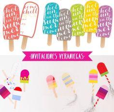 invitaciones cumpleaños verano
