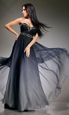 Tony Bowls Evenings Black Ombre Silk Chiffon Formal Dress Tony Bowls Evenings Black Ombre Silk Chiffon Formal Dress complete with bling and flowing faded fabric. Bowls Evenings Black Ombre Silk Chiffon Formal Dress Tony Bowls Evenings B Camo Prom Dresses, Unique Prom Dresses, Long Prom Gowns, Pageant Gowns, Beautiful Dresses, Formal Dresses, Lace Dresses, Dress Prom, Dress Long