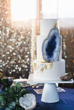 Les gâteaux de mariage style «geode cake» - «Geode cake»: des gâteaux de mariage…