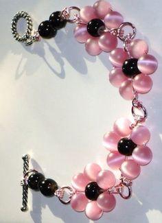 Blush Pale Pink Beaded Bracelet by tia