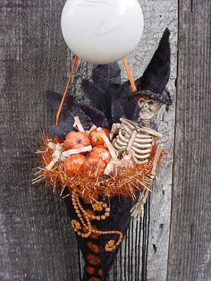 Mr. Skelly Halloween Tussie Mussie