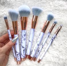 Marble/ Rose gold makeup brushes