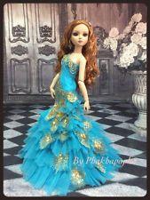 "PKPP-751  Tonner Ellowyne Mermaid Evening Peacock Gown dress outfit dolls 16"""