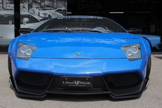 Visit to libertywalk with this blue Lamborghini murcielago