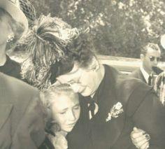 Carole Landis funeral..Carole's mother Clara Ridste and her niece Diane Carole Ross