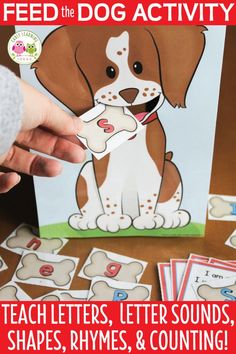 Dog Activities for Preschool and Kindergarten: Feed the Dog Your kids will love these fun hands-on pet activities! This feed the dog activity printable is perfect for your pets theme unit or lesson pl Lesson Plans For Toddlers, Preschool Lesson Plans, Art Lesson Plans, Classroom Pets, Preschool Classroom, Pet Theme Preschool, Rhyming Activities, Preschool Activities, Community Helpers Preschool