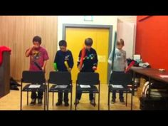 ODE AN DIE FREUDE - Boomwhackers.  Beethoven's BOYS. Group work.