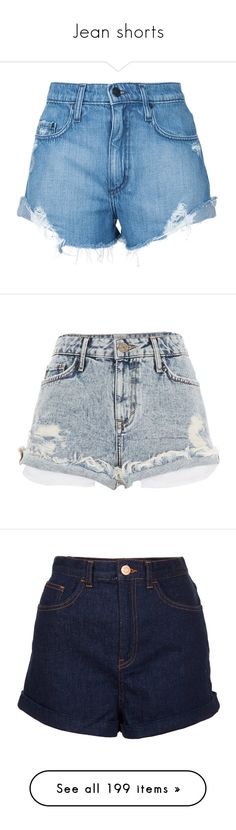 """Jean shorts"" by minleepam ❤ liked on Polyvore featuring shorts, bottoms, blue, short shorts, frayed high waisted shorts, blue short shorts, nobody denim, blue high waisted shorts, short and denim shorts"