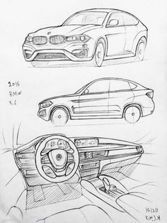 Car drawing 151211 2015 BMW M6. Prisma on paper. Kim.J.H