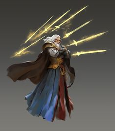 Protector Aasimar Sorcerer (Storm Sorcery): The Judge is the executioner of the Selunites. The wisest amongst the phases, his word and judgement is absolute. His blessing from Seluna brought him extended life. Fantasy Character Design, Character Design Inspiration, Character Concept, Character Art, Concept Art, Dungeons And Dragons Characters, Dnd Characters, Fantasy Characters, High Fantasy