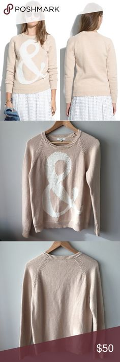 """Madewell Ampersand Pullover """"&"""" because we think of it as the perfect """"jeans & a sweater"""" sweater. An easy cotton shape boldly punctuated with a fun stitch mix. Cotton. Hand wash. Item A1250 Lightly worn a few times – no stains, holes, pulls or pilling – great condition. Bundle & save 💰! Sorry - 🚫 trades! Madewell Sweaters Crew & Scoop Necks"""