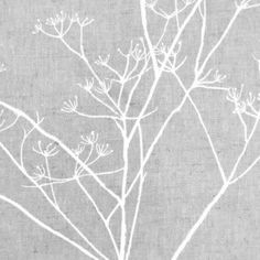 Cow Parsley Fabric White Beige Fabric Linen by OOMFinteriors