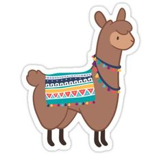 Llama stickers featuring millions of original designs created by independent artists. Stickers Cool, Phone Stickers, Journal Stickers, Printable Stickers, Planner Stickers, Alpacas, Posters Tumblr, Tumbler Stickers, Aesthetic Stickers