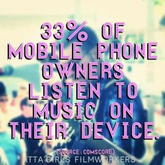 33% of mobile phone owners listen to music on their device.