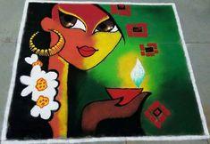 55 best Diwali Rangoli photos by Simple Flower Design, Diwali Painting, Simple Rangoli Designs Images