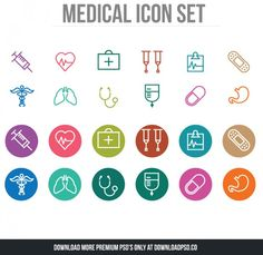 http://downloadpsd.co/thin-line-medical-icons/ Clean and Simple line Medical Icons. These are perfect for your new medical app, presentations, illustrations, & infographics.You can customized these icons to any size or color.Enjoy!! Files included: vector EPS, JPG. See more in this series