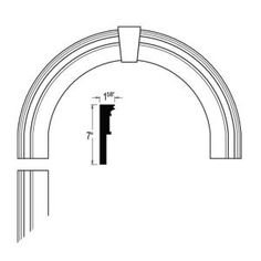 arch molding with detail