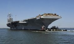 The Nimitz-class aircraft carrier USS Harry S. Truman (CVN-75) departs Naval Station Norfolk.