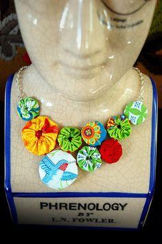 fabric yo yo projects | Yo Yo Necklace ∙ How To by Marigold H. on Cut Out + Keep