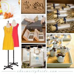 beach wedding collage