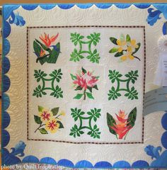 Aloha Garden by Jan Millner, 2014 River City Quilters Guild show (Sacramento, CA), photo by Quilt Inspiration.  Design by Pearl Pereira.