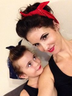 Rockabilly mum and daughter