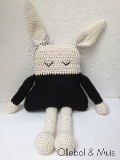Gehaakt konijn konijn decoratie voor kinderkamer door Ollebol SOLD