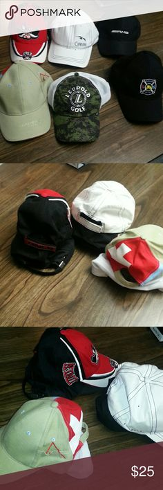 6 Mix Men's Hats All one size in good shape. Bundle sold together Accessories Hats