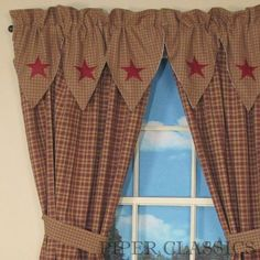primitive decor black star curtains country drapes and panel curtains vintage star black. Black Bedroom Furniture Sets. Home Design Ideas