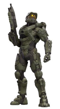 Masterchief would be good for a heroic type character because he's a leader and everyone looks up to him, he could save the day.