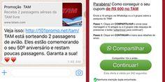 Golpe usa Latam para enganar usuários do WhatsApp (Foto: Reprodução/Fábio Assolini)