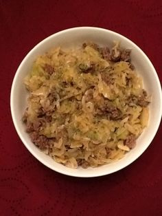 Crack Slaw - Low Carb Recipe - Food.com Only used half the oil and 90% lean ground sirloin.  VERY GOOD!