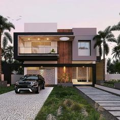 Best Modern House Design, Modern Exterior House Designs, Classic House Design, Latest House Designs, Dream House Exterior, Exterior Design, Modern Design, 3 Storey House Design, Bungalow House Design