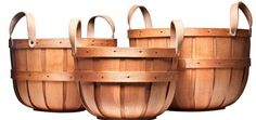 From the heart of New Hampshire's apple-picking country come the handmade Peterboro Bushel Storage Baskets