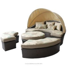 BuildDirect®: Patio Furniture Patio Furniture   Naples Collection   Naples Canopy Daybed. #PinandWinforMom with @BuildDirect http://www.builddirect.com/promotions/mothers-day/?utm_source=pinterest&utm_medium=social&utm_campaign=MothersDayPinterest