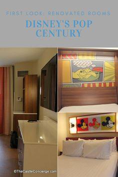 Photo Tour of Refurbished Room at Disney's Pop Century Resort in Walt Disney World.