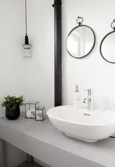 50 Interesting Scandinavian Bathroom Ideas With Wall Mirror And Flower Vase Bathroomvanity Lamps