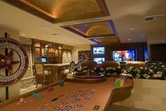 basement ideas man cave if you are in for luxury then this man cave is definitely what you need with a table for gambling a bar and a theatre who want to head straight basement man cave ideas on a bud Man Cave Designs, Bar Designs, Design Ideas, Garage Boden, Gamble House, Yabu Pushelberg, Man Cave Basement, Gambling Machines, Café Bar